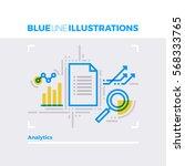 blue line illustration concept... | Shutterstock .eps vector #568333765