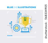 blue line illustration concept...   Shutterstock .eps vector #568334905