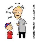 impulsive irritable father...   Shutterstock .eps vector #568335925