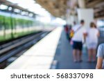 abstract people walking in...   Shutterstock . vector #568337098