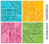 vector colorful flat city map... | Shutterstock .eps vector #568338526