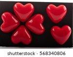 Plastic Red Valentine Hearts...