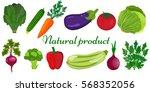 eco food menu background. fresh ... | Shutterstock .eps vector #568352056