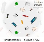 abstract vector background with ... | Shutterstock .eps vector #568354732