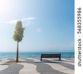 shore of lake garda | Shutterstock . vector #568355986