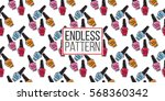 vector fashion sketch. hand... | Shutterstock .eps vector #568360342