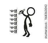 stickfigure goal checklist | Shutterstock .eps vector #568363042