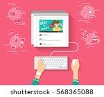 trend bloger video streaming... | Shutterstock .eps vector #568365088
