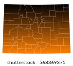 map of colorado | Shutterstock .eps vector #568369375