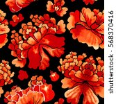 seamless chinese pattern.... | Shutterstock .eps vector #568370416
