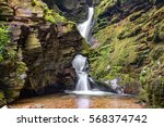 St Nectans Kieve Waterfall In...