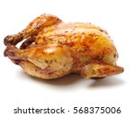 whole roasted chicken against... | Shutterstock . vector #568375006
