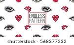 vector fashion sketch. hand... | Shutterstock .eps vector #568377232