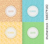 set of patterns with flowers... | Shutterstock .eps vector #568379182