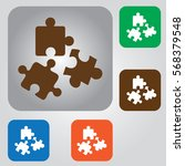 simple puzzle icon. business... | Shutterstock .eps vector #568379548