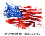 flag of america  hand drawn... | Shutterstock . vector #568382782