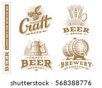 set beer logo   vector... | Shutterstock .eps vector #568388776