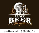craft beer logo  vector... | Shutterstock .eps vector #568389145