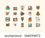 design collection icons set | Shutterstock .eps vector #568394872