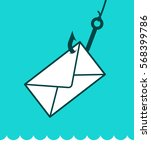phishing mail concept with an... | Shutterstock .eps vector #568399786