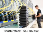 networking hardware test bench | Shutterstock . vector #568402552