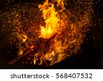 fiercely burning pieces of wood ... | Shutterstock . vector #568407532