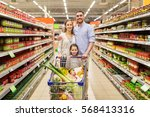 sale  consumerism and people... | Shutterstock . vector #568413316