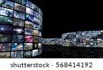 3d rendering. unrolling cinema... | Shutterstock . vector #568414192