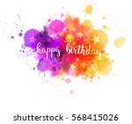 colorful abstract watercolored... | Shutterstock .eps vector #568415026
