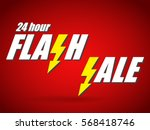 text flash sale with flash signs | Shutterstock .eps vector #568418746