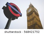 an image of the big ben with... | Shutterstock . vector #568421752