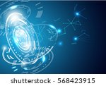 abstract technology... | Shutterstock .eps vector #568423915