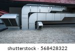 air conditioning equipment atop ...   Shutterstock . vector #568428322