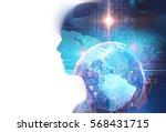 double exposure image of... | Shutterstock . vector #568431715