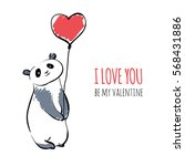 valentines card design. cute... | Shutterstock .eps vector #568431886