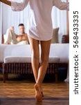 woman in a shirt of her... | Shutterstock . vector #568433335
