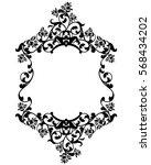 rose flowers black and white... | Shutterstock .eps vector #568434202