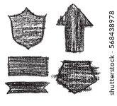vector black design elements on ... | Shutterstock .eps vector #568438978