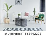 spacious room with designed...   Shutterstock . vector #568442278
