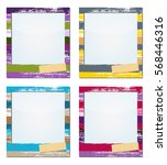 photo frame painted brush... | Shutterstock .eps vector #568446316