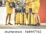 flight attendants at... | Shutterstock . vector #568447762