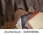 the composition of leather... | Shutterstock . vector #568448086