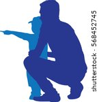 Silhouettes Vector Of Side View ...