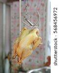 boiled chickens   a popular... | Shutterstock . vector #568456972