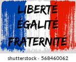 french flag paint brush strokes ... | Shutterstock .eps vector #568460062