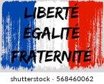 french flag paint brush strokes ...   Shutterstock .eps vector #568460062