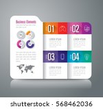 folder infographics design... | Shutterstock .eps vector #568462036