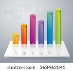 infographics design vector and... | Shutterstock .eps vector #568462045