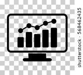 monitoring icon. vector...   Shutterstock .eps vector #568462435