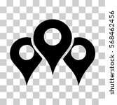 locations icon. vector... | Shutterstock .eps vector #568462456